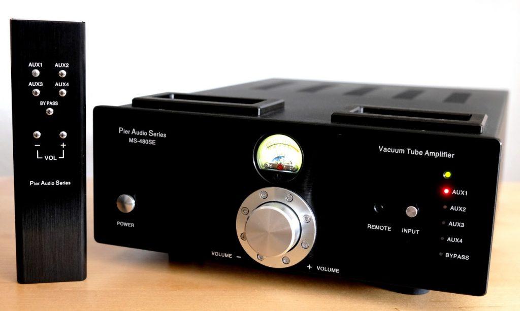 Der Röhren-Hybrid-Vollverstärker Pier Audio MS-480 SE mit Fernbedienung