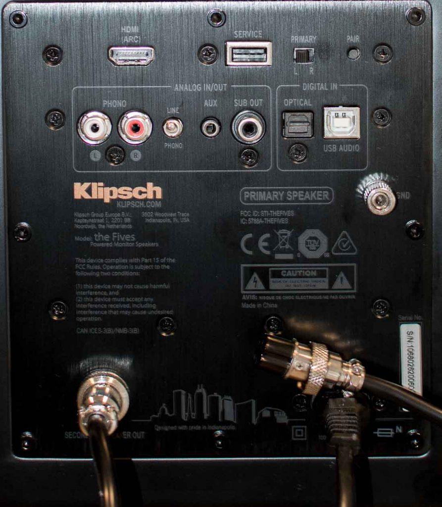 Klipsch-The-Fives-Anschluesse