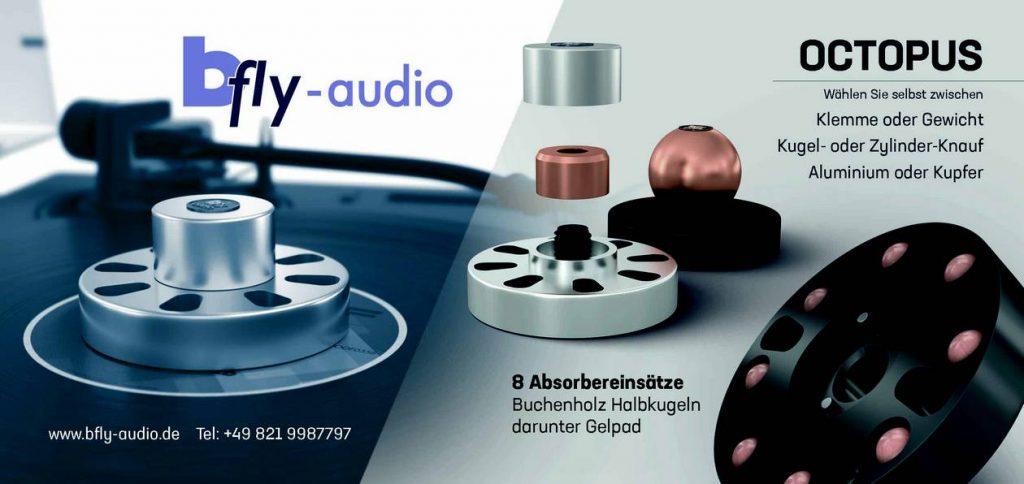 Das neue Plattengewicht und Klemme Octopus von bFly-Audio