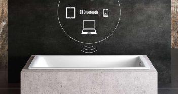 Neu: Musik in der Badewanne mit KALDEWEI. Mit Wand-Einbau-Lautsprecher und Bluetooth