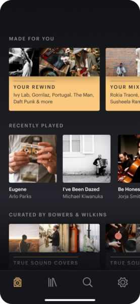 Neue Bowers & Wilkins Music App