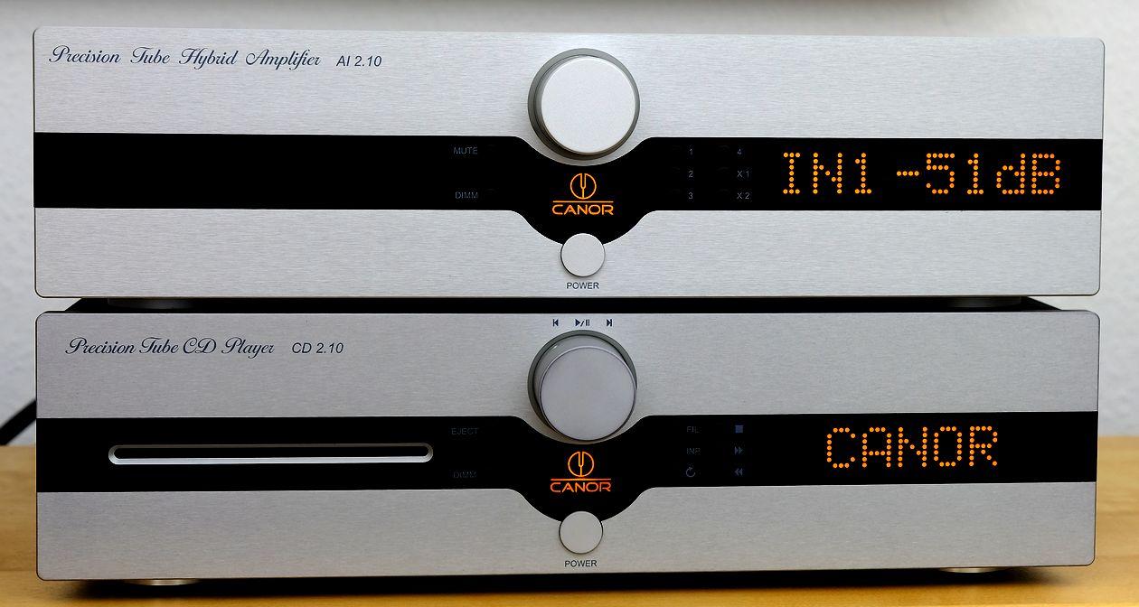 High End Stereo-Röhren-Hybrid-Vollverstärker CANOR AI 2.10 und CD-Player CANOR CD 2.10 im Test der HiFi-IFAs.