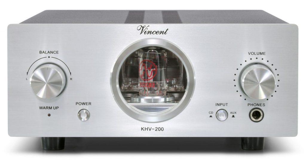 Im Bild der neue Hybrid-Kopfhörerverstärker Vincent KHV-200 für 1.000 Euro in silber
