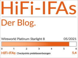 Im Test das Ethernet-LAN-Kabel Wireworld Platinum Starlight 8. Mit 5,4 Punkten von 6,0 Punkten im Vergleich von 3 Kabeln.