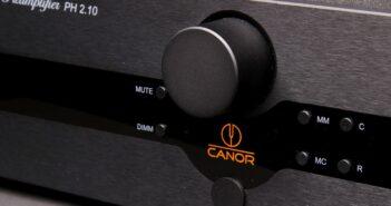 Im Bild der neue High End Phono-Röhren-Vorverstärker Canor PH 2.10