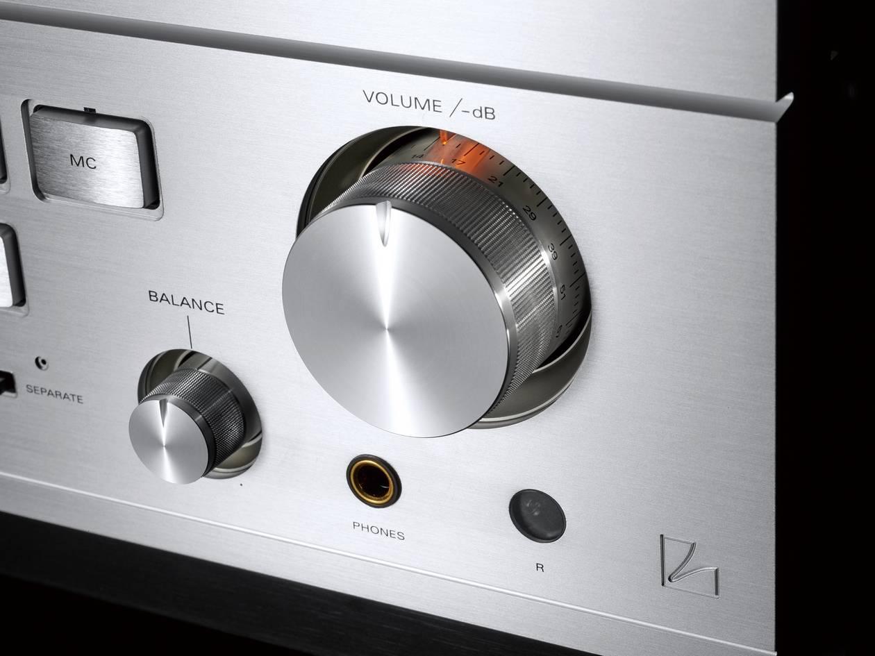 Luxman Class-A-Vollverstärker L-595A Special Edition: Der Lautstärkeregler.