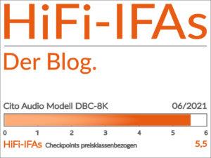 Test-Ergebnis des Regal-Lautsprecher Cito Audio MODELL DBC-8(