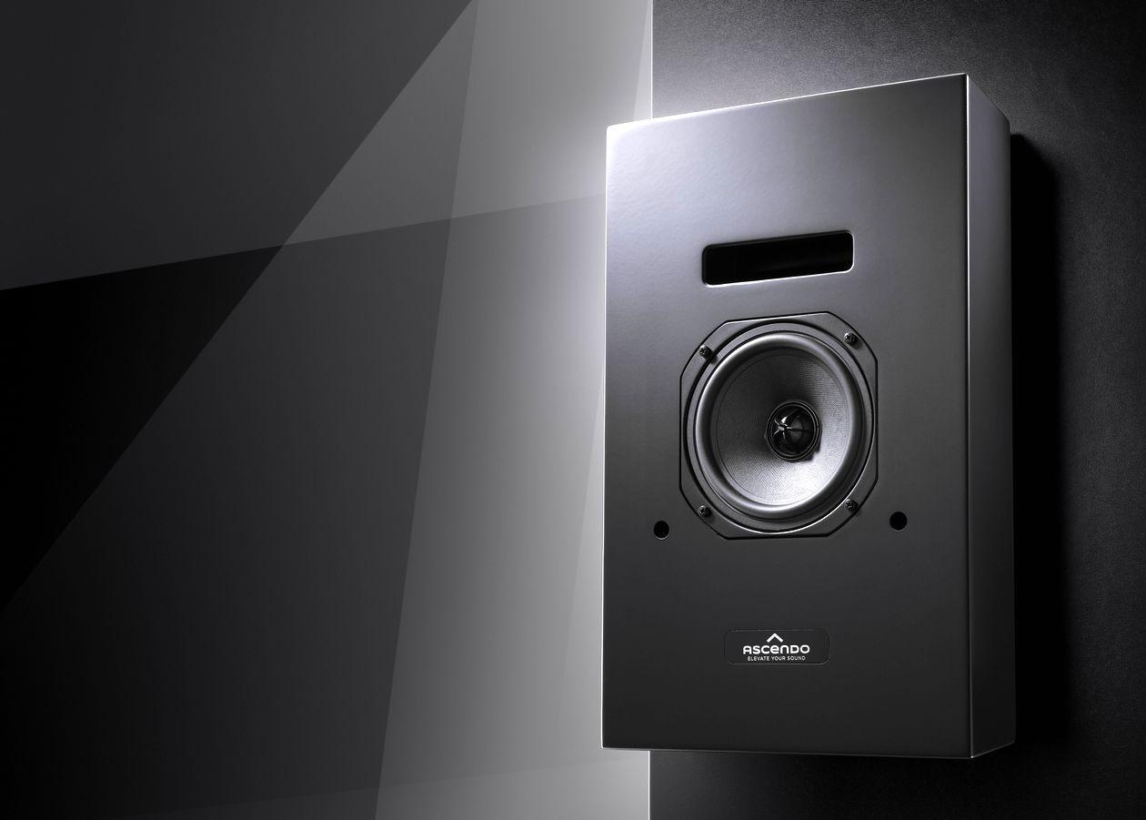 Im Bild der neue Heimkino und Surround-Lautsprecher ASCENDO CCM5 P.