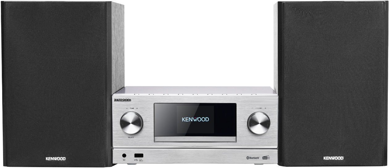 Im Bild die neue Micro HiFi-Anlage M 9000 s von Kenwood mit Bluetooth und Spotify