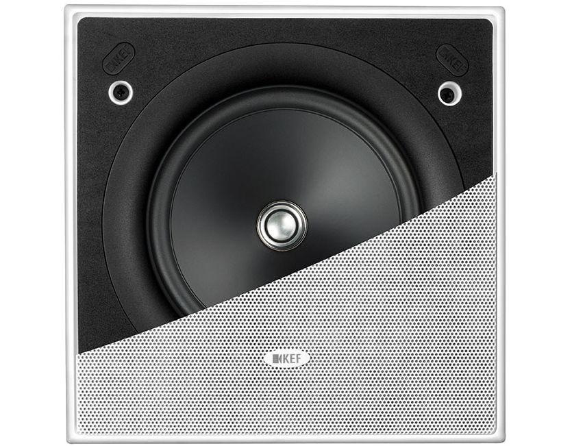 Im Bild der neue KEF Einbau-Lautsprecher Ci160ES für Wand und Decke.