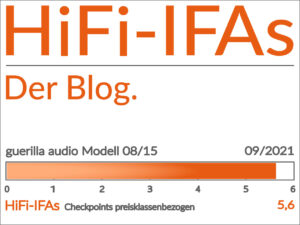 Test-Ergebnis Kompaktlautsprecher guerilla audio Modell 08/15