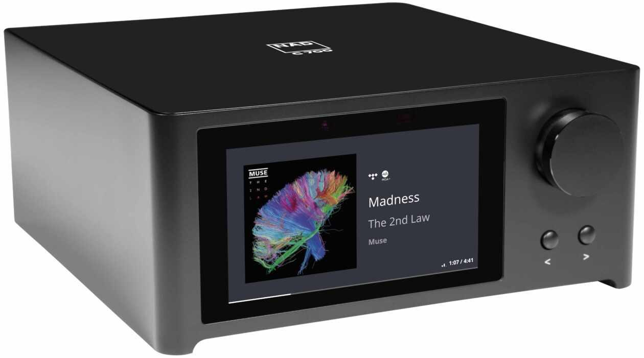 Im Bild die Neuheit Micro Streaming Verstärker NAD C 700 mit Bluetooth aptx HD.