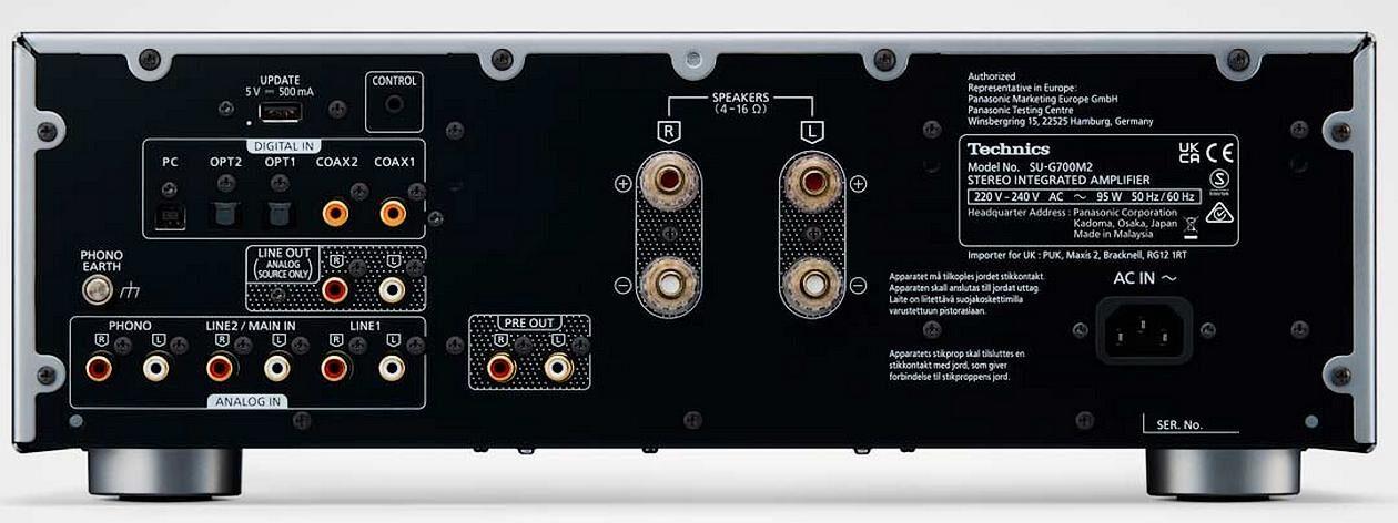 Im Bild die HiFi-Neuheit Vollverstärker Technics SU G700 M2