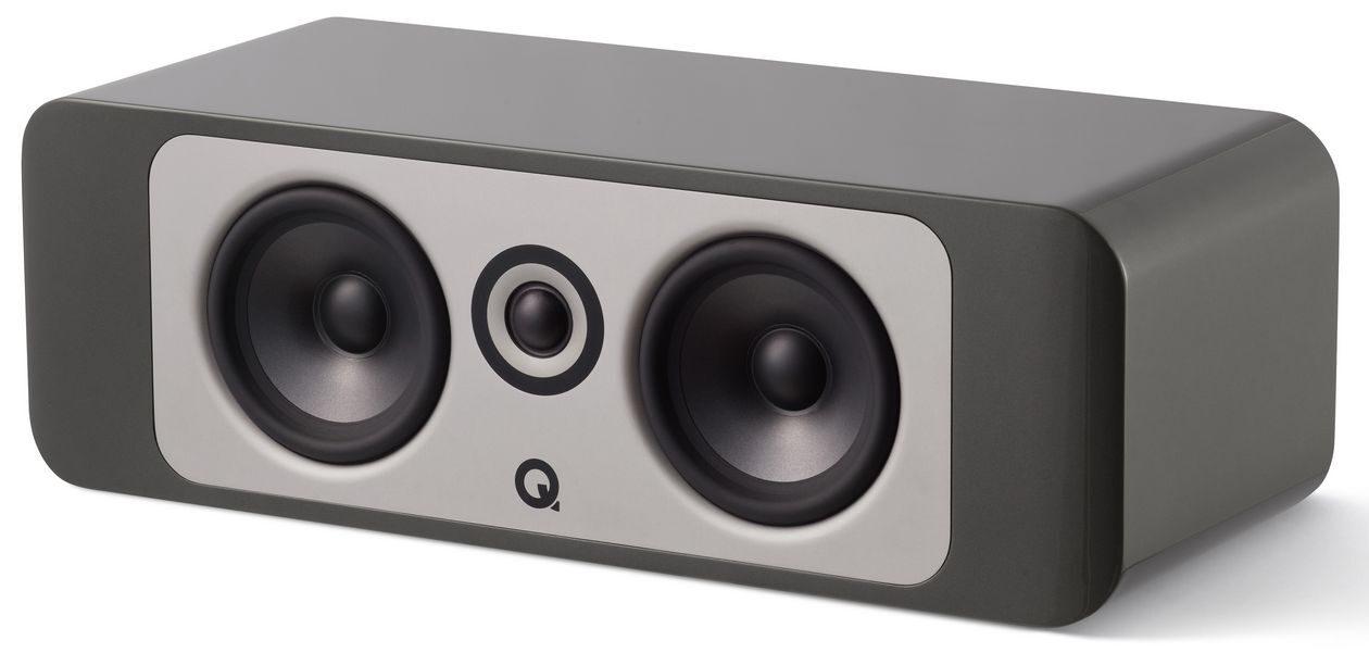 Im Bild Center-Lautsprecher Q Acoustics Concept C 90 für Surround.