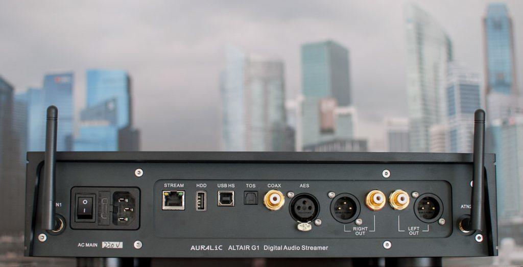 Das Anschlussfeld des Auralic ALTAIR G1 bietet alles, was der Digital Native benötigt