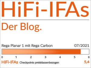 Test-Ergebnis Plattenspieler Rega Planar 1 mit MM-Tonabnehmer Rega Carbon: 5,4 von 6,0 Punkten.