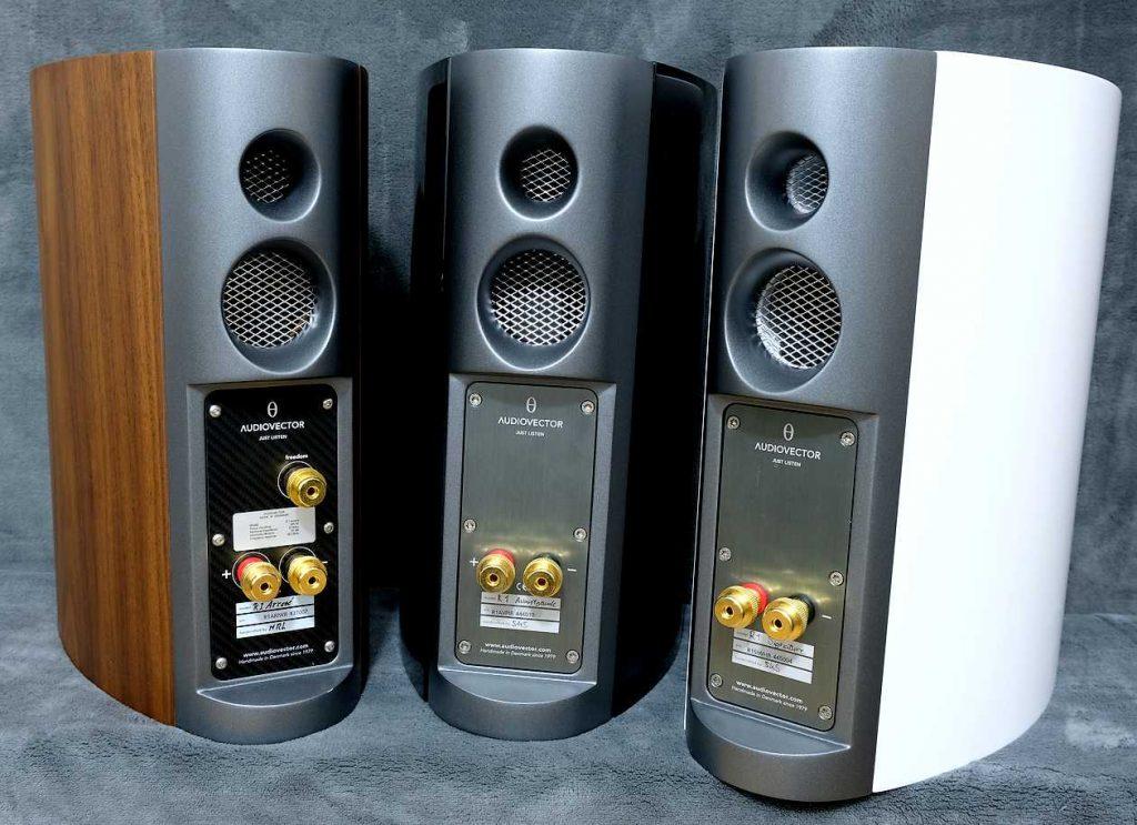 Anschlüsse der Kompaktlautsprecher Audiovector R1