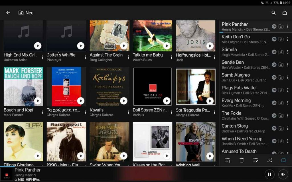 BlueOS Musikblibliothek des NAD M10 mit BluOS
