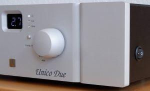 Netzschalter des Unico Due Röhrenverstärker