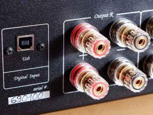 Der USB-B Anschluss am HiFi-Vollverstärker Unico Due