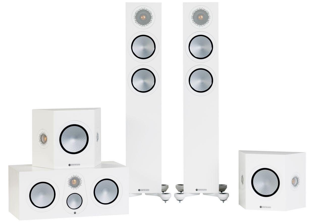 Im Bild die neuen HiFi-Lautsprecher Monitor Audio 7G in weiss.